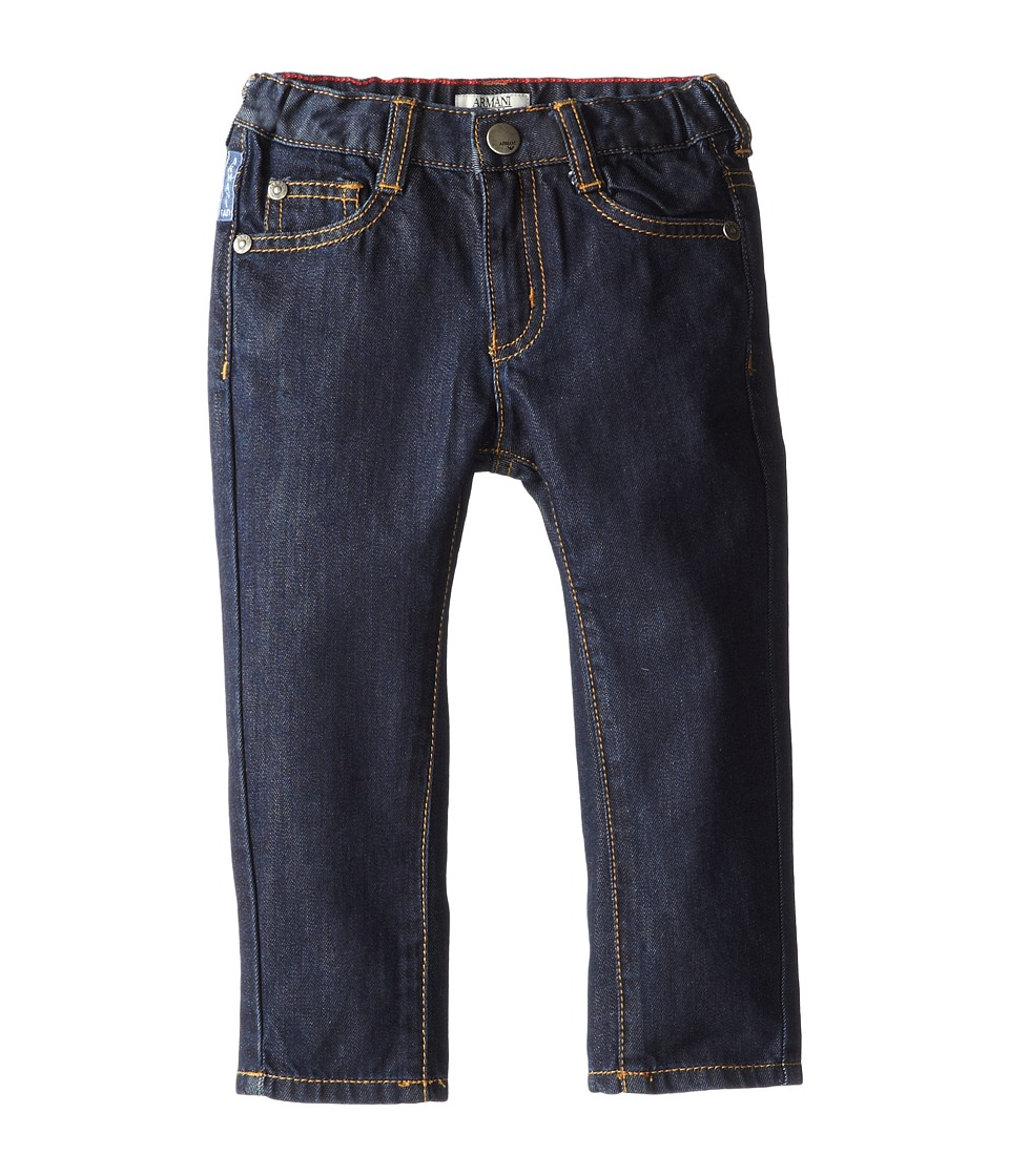 Armani Junior - Dark Wash Basic Denim (Infant) (Denim) Boy's Jeans