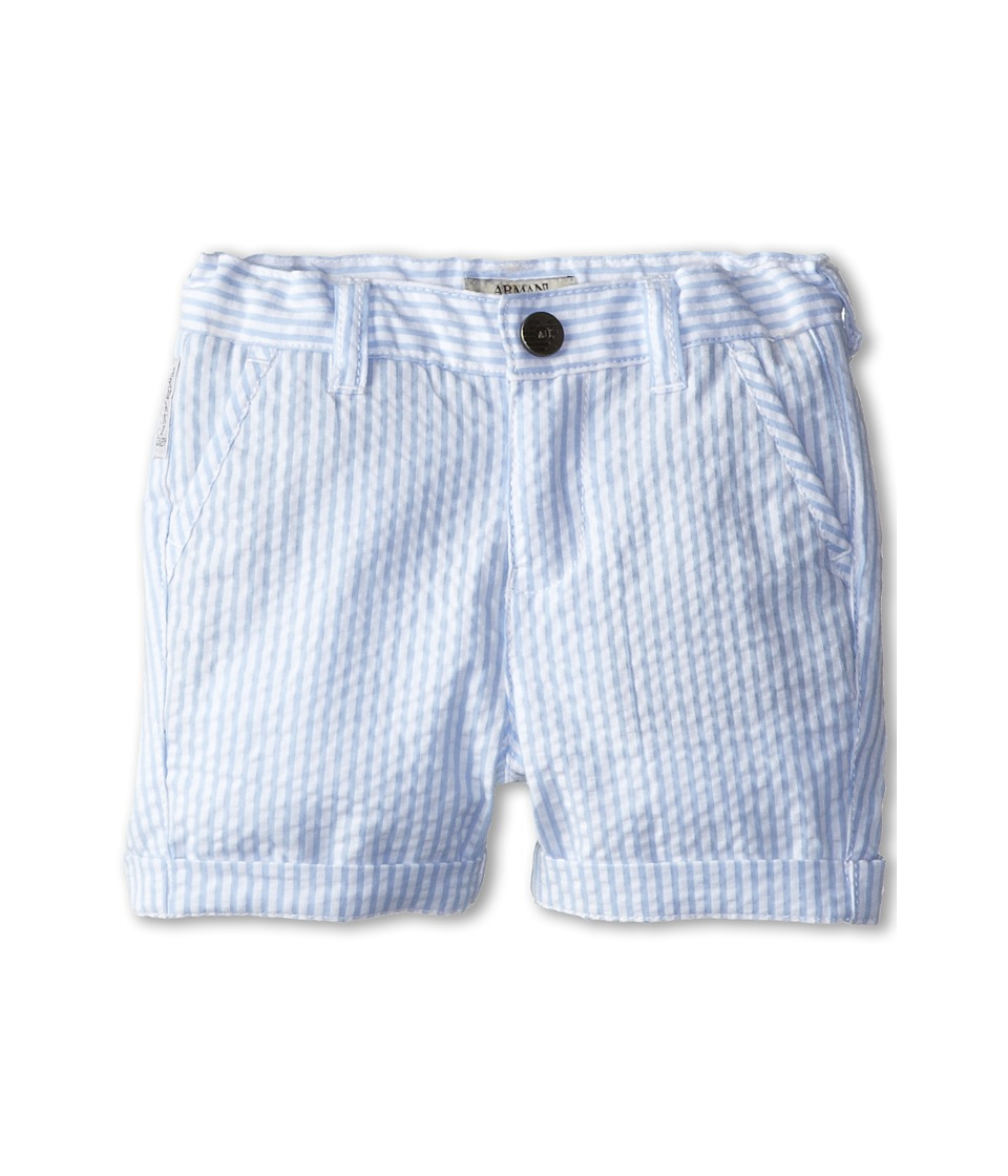 Armani Junior - Seersucker Short (Infant) (Stripe) Boy