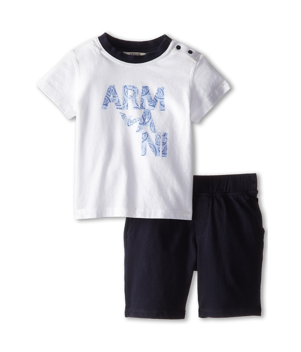 Armani Junior - Two-Piece Set: Short Sleeve Tee Soft Short (Infant) (Bicolored Two-Tone) Boy's Active Sets