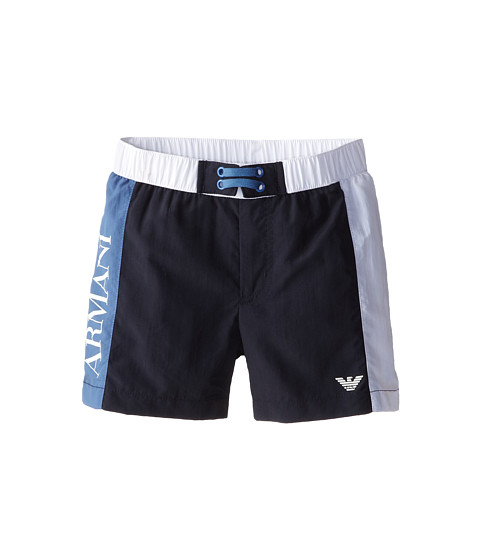 Armani Junior - Swim Trunk (Toddler/Little Kids) (Indigo) Boy's Swimwear