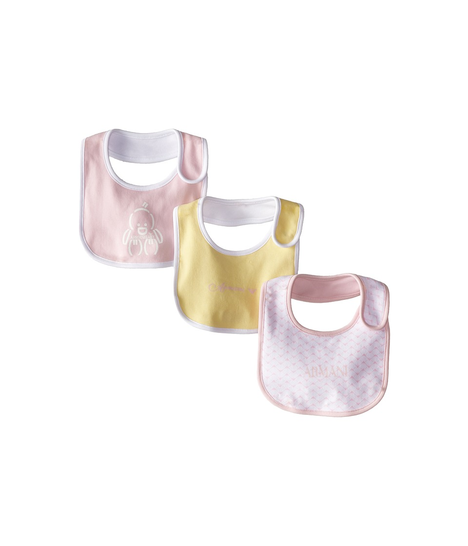 Armani Junior - Three-Piece Bib Set (Pink Multicolor) Accessories Travel