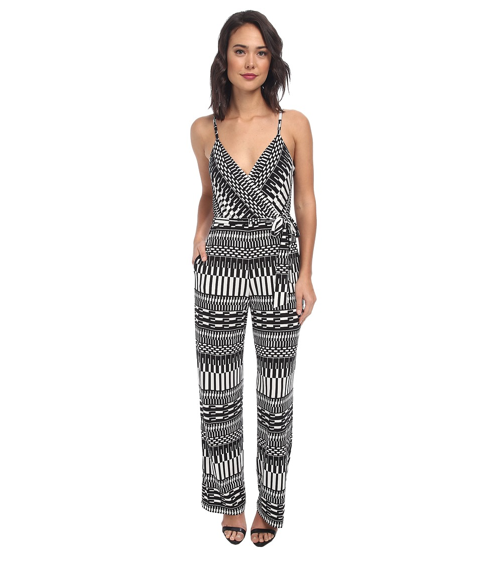 Calvin Klein - Printed Jumpsuit CD4AZ6V9 (Black/Cream) Women
