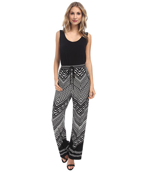 Calvin Klein - Printed Jumpsuit CD4A3467 (Black/Black/Cream) Women