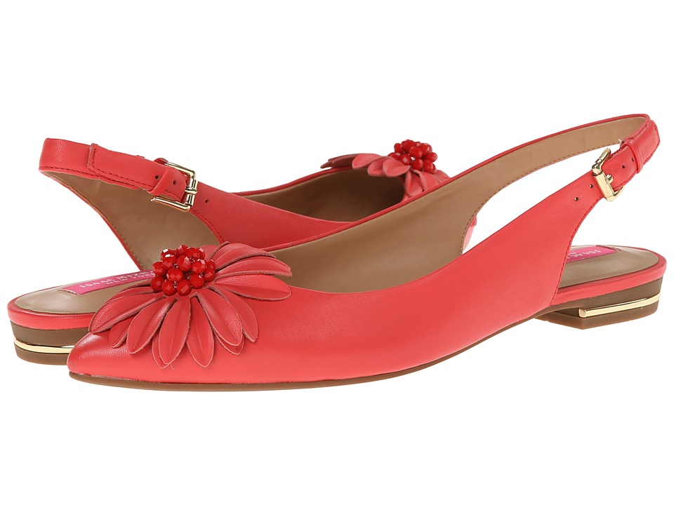 Isaac Mizrahi New York - Gladiola (Coral) Women's Dress Flat Shoes