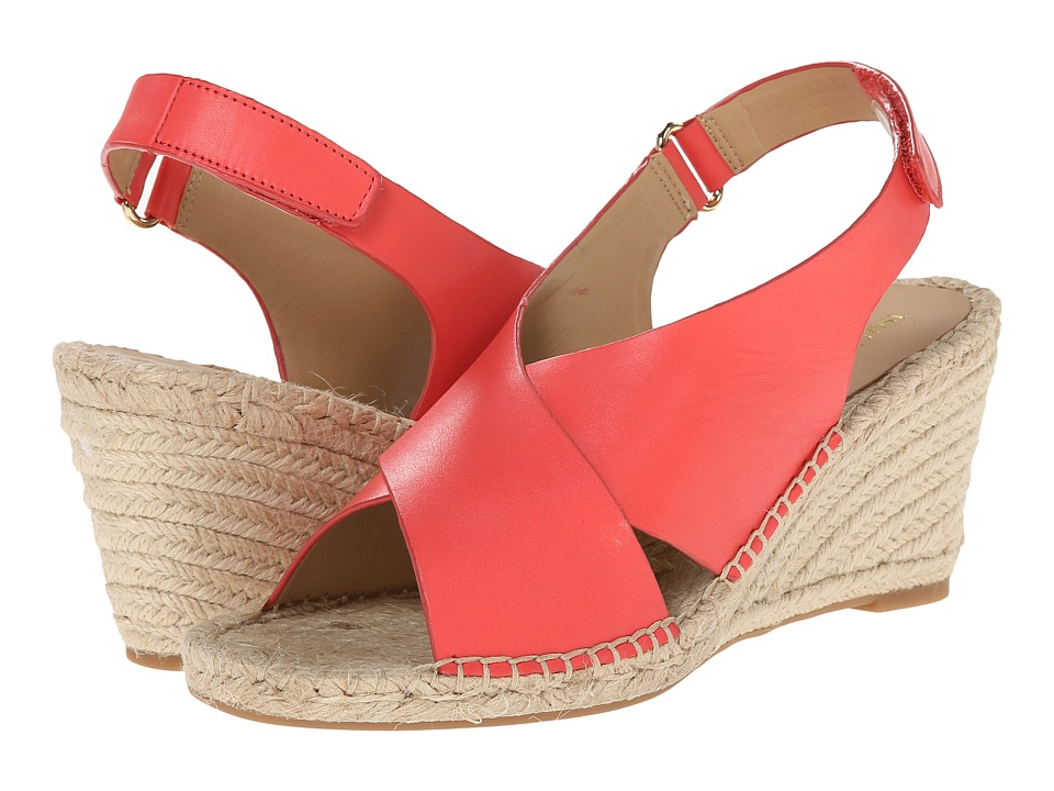 Isaac Mizrahi New York - Iriss (Bright Coral) Women's Wedge Shoes