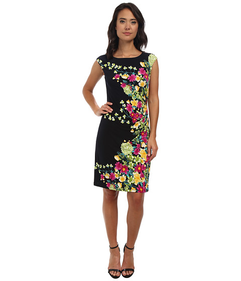 rsvp - Arielle Floral Dress (Navy Multi) Women's Dress