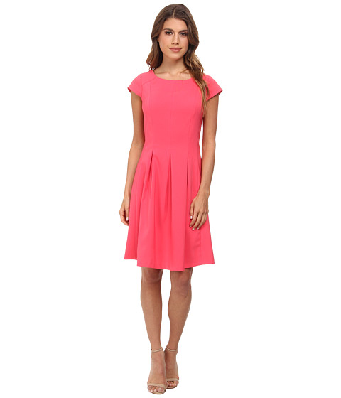 rsvp - Hannah Pleated Dress (Salmon) Women's Dress