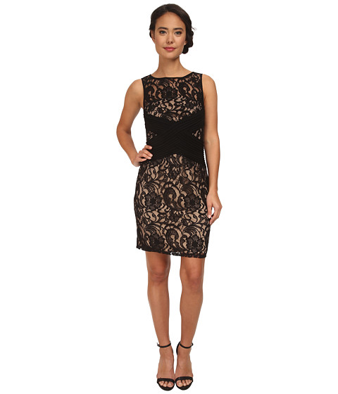 rsvp - Alice Illusion Dress (Black) Women's Dress