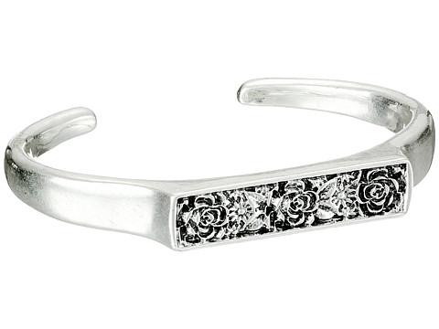 Lucky Brand - Flower Cuff Bracelet (Silver) Bracelet
