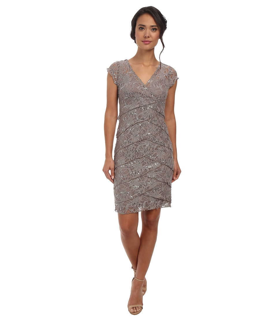 rsvp - Jade Ella Lace Dress (Taupe) Women's Dress