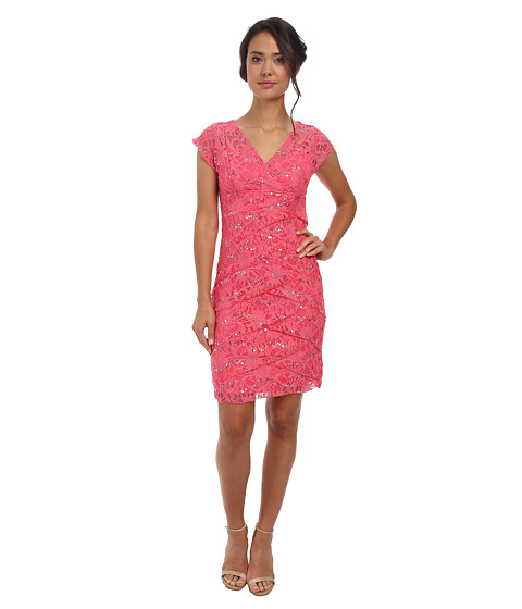 rsvp - Jade Ella Lace Dress (Coral) Women's Dress