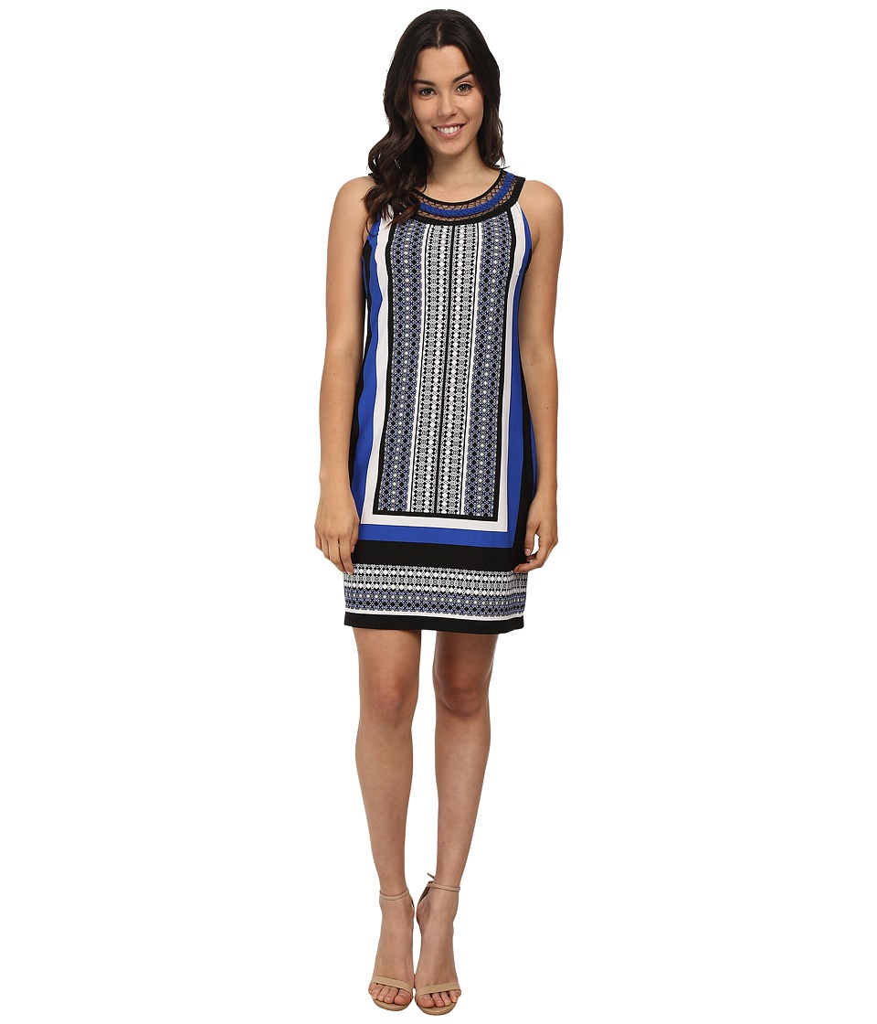 rsvp - Bria Sleeveless Dress (Blue/Black/White) Women's Dress