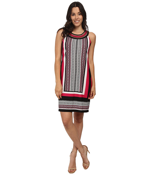 rsvp - Bria Sleeveless Dress (Fuchsia/Black/White) Women's Dress