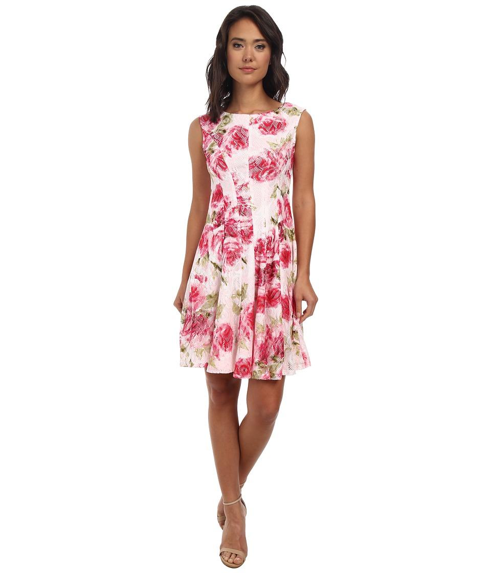 rsvp - Alana Floral Dress (Pink/Fuchsia/Green) Women's Dress