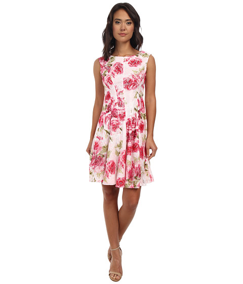 rsvp - Alana Floral Dress (Pink/Fuchsia/Green) Women's Dress
