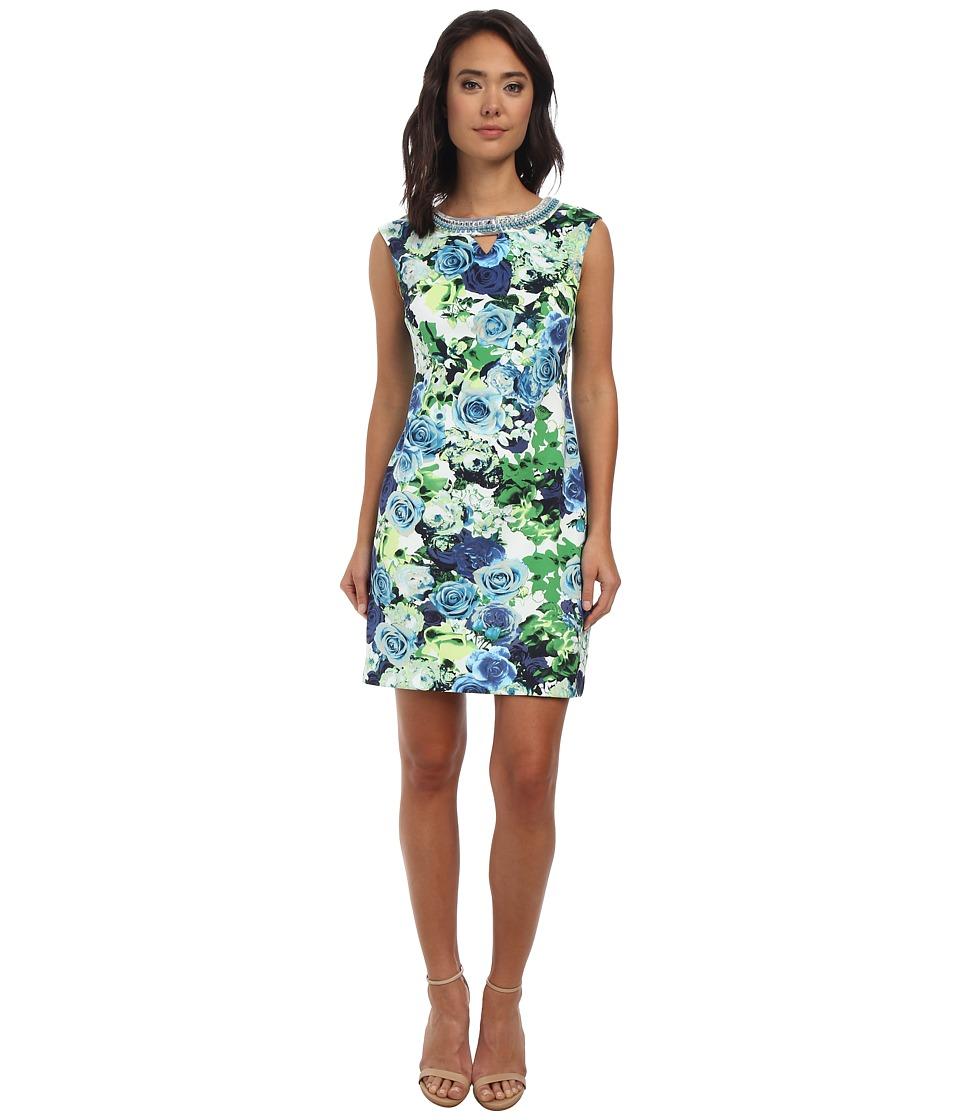 rsvp - Avery Floral Dress (White/Blue) Women