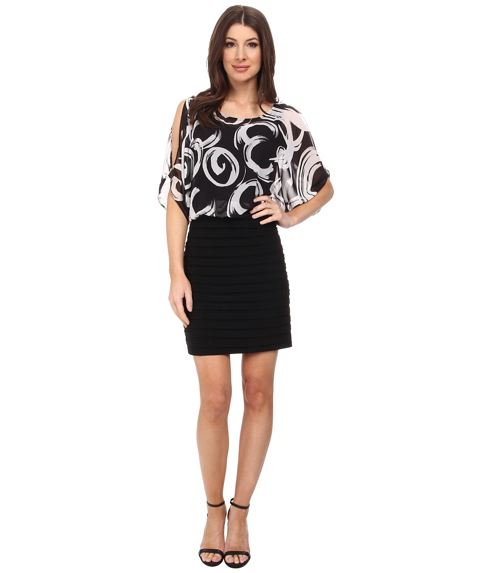 rsvp - Leonie Dress (Black/White) Women's Dress