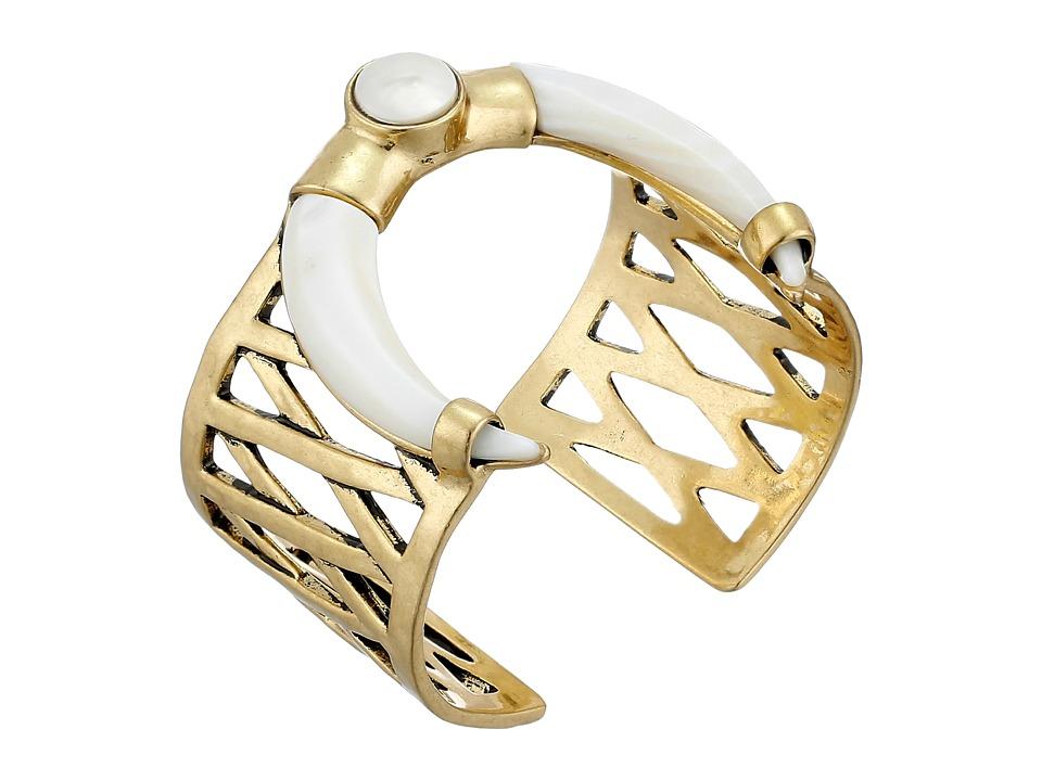 Lucky Brand - White Tusk Bracelet (Gold) Bracelet
