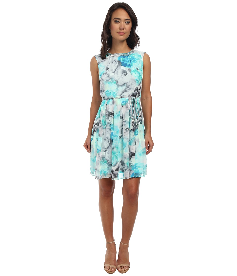 rsvp - Layla Print Dress (Turquoise) Women's Dress