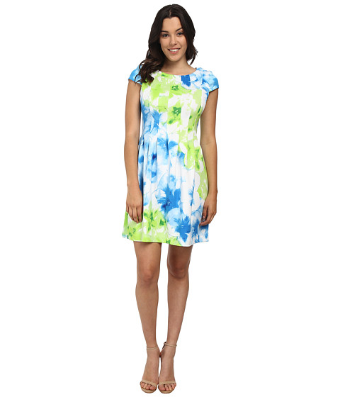 rsvp - Mackenzie Capsleeve Dress (Blue/Green Multi) Women