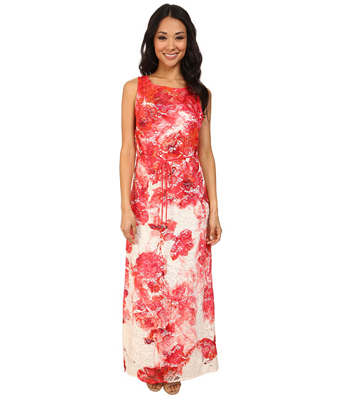 rsvp - Floral Leah Maxi Dress (Coral) Women