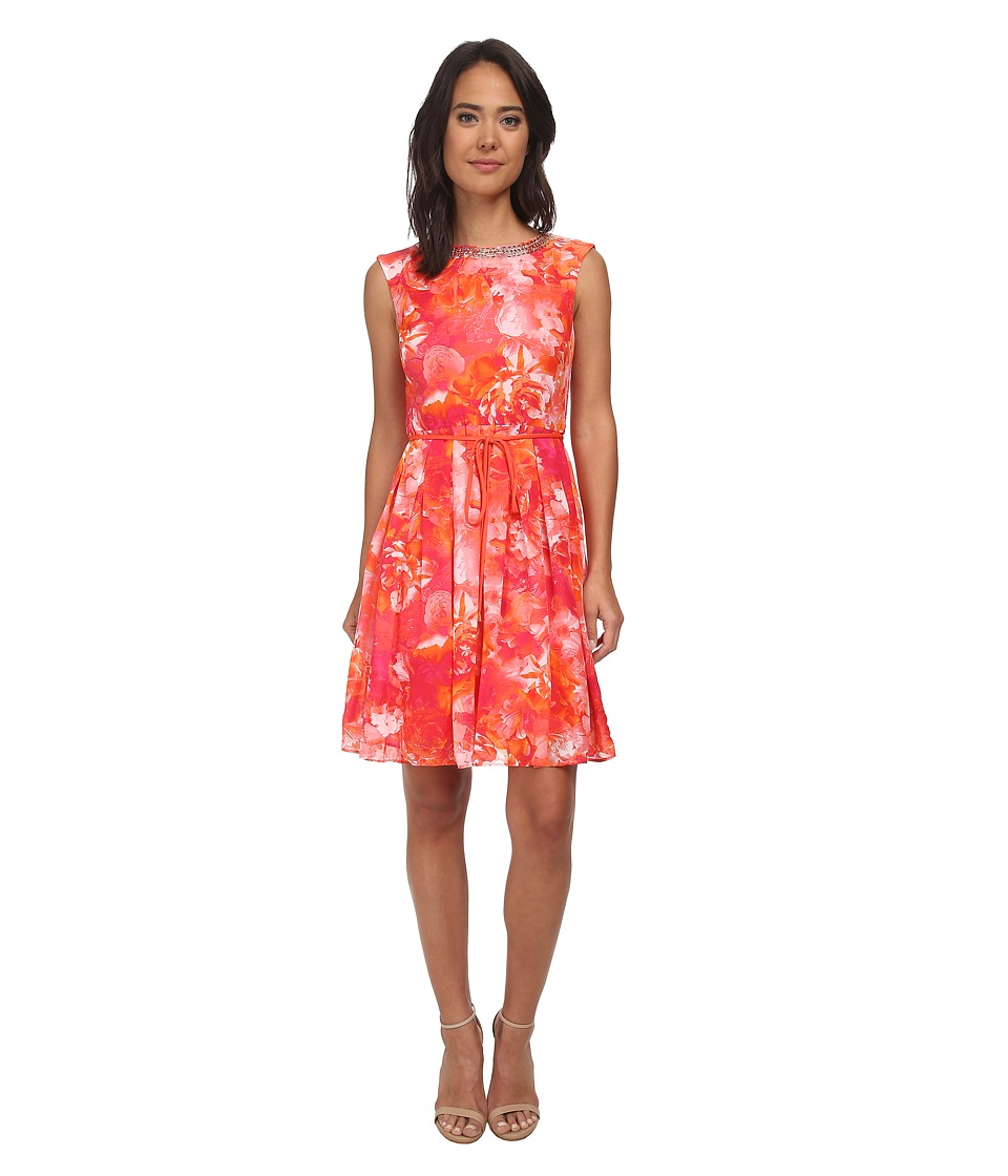 rsvp - Trinity Dress (Orange/Pink Multi) Women's Dress