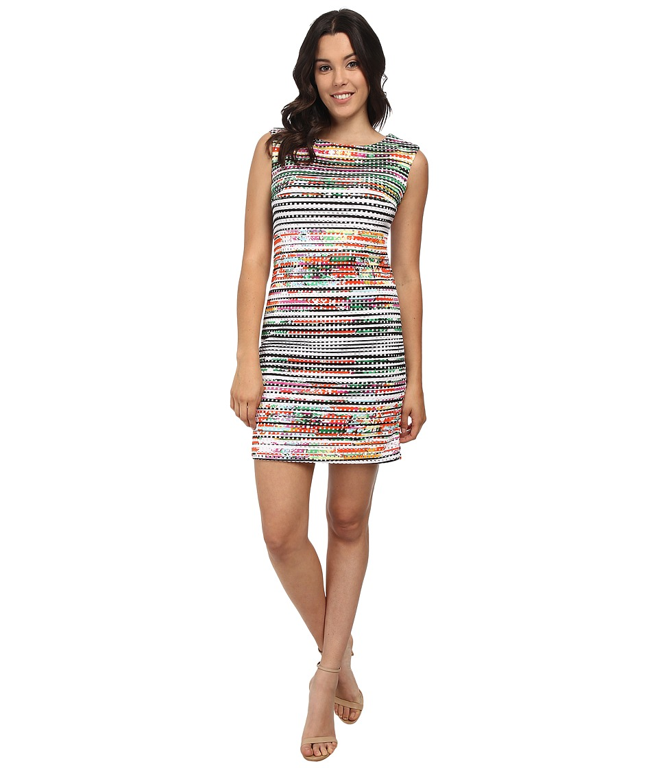 rsvp - Kiley Print Dress (Black/Orange Multi) Women's Dress