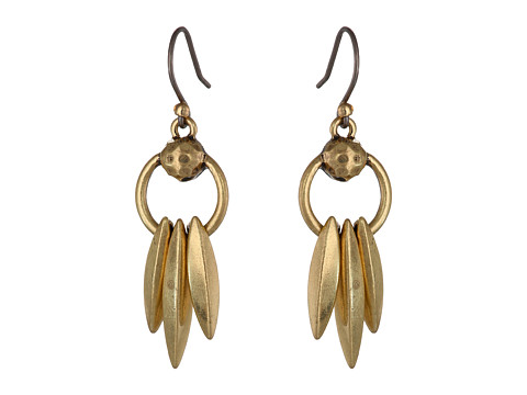 Lucky Brand - Metal Dangle Earrings (Gold) Earring