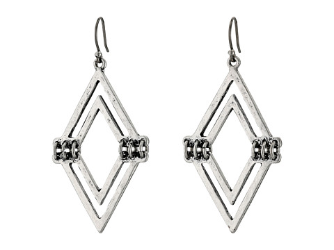 Lucky Brand - V Drop Earrings (Silver) Earring
