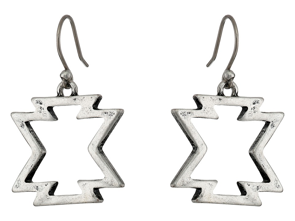 Lucky Brand - Arizona Drop Earrings (Silver) Earring