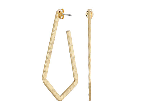 Lucky Brand - Hammered Hoop Earrings (Gold) Earring