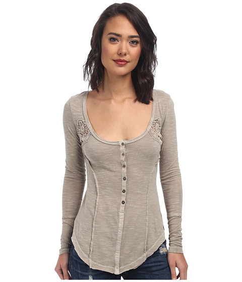 Free People - Keepsake Henley (Cafe Au Lait) Women's Clothing