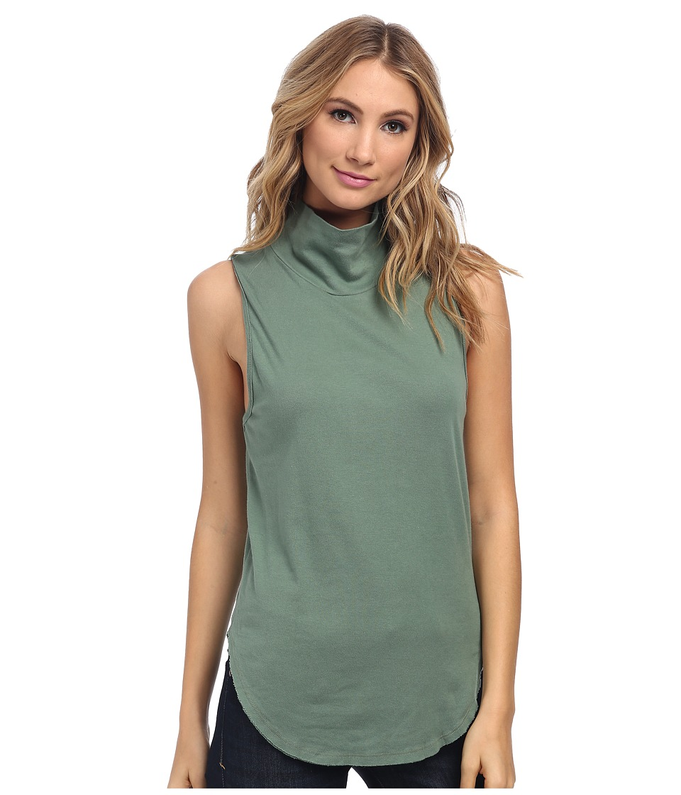 Free People - 90210 Muscle Tank (Army) Women's Sleeveless