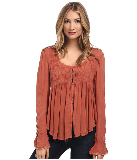 Free People - Blue Bird Top (Pink Sand) Women's Blouse