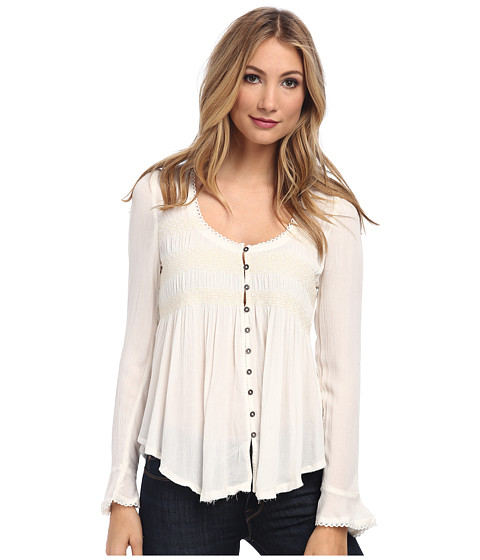 Free People - Blue Bird Top (Ivory) Women's Blouse