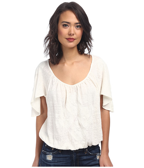 Free People - Ponce De Leon Top (White Combo) Women's Clothing