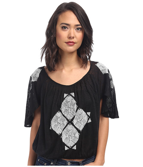 Free People - Ponce De Leon Top (Black Combo) Women's Clothing