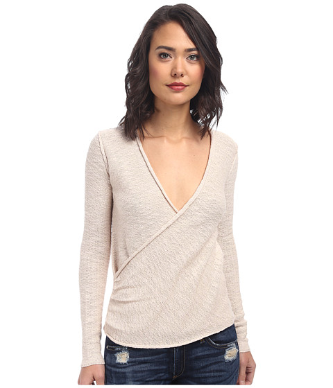 Free People - Gotham Wrap Sweater (Ballet/Cream Combo) Women's Sweater