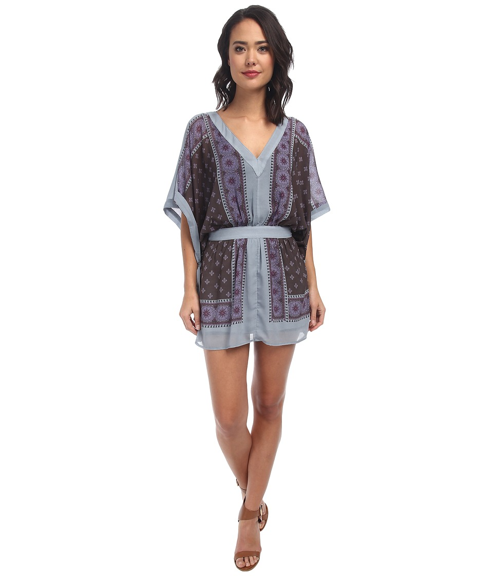 Free People - Santa Cruz Dress (Dusty Blue Combo) Women's Dress