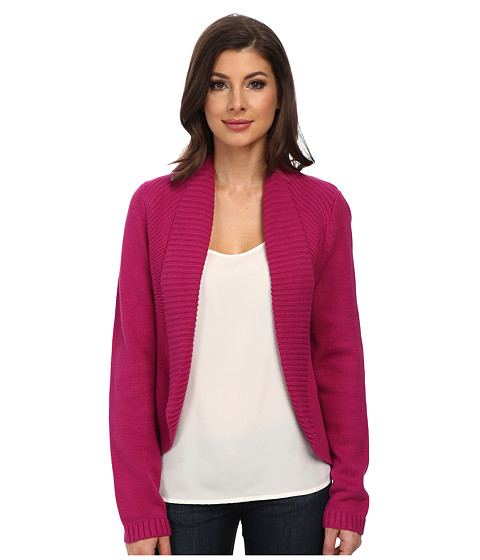 Jones New York - L/S Open Cardigan (Magenta) Women's Sweater