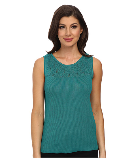 Jones New York - Sleeveless Shell (Green Gem) Women