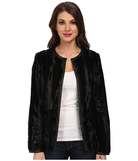Jones New York - Faux Fur Easy Coat (Black) Women