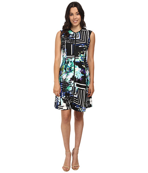 rsvp - Gabriella Print Dress (Black/Green Multi) Women's Dress
