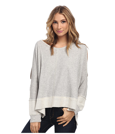 Free People - Po Dandyline (Grey Heather) Women's Long Sleeve Pullover