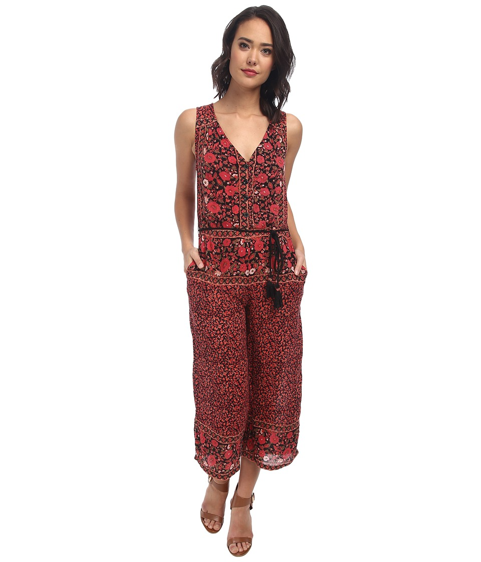 Free People - Culotte Printed Jumpsuit (Black Combo) Women's Jumpsuit & Rompers One Piece