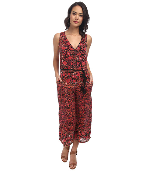 Free People - Culotte Printed Jumpsuit (Black Combo) Women