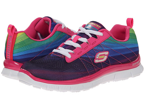 SKECHERS KIDS - Skech Appeal - Pretty Please 81875L (Little Kid/Big Kid) (Hot Pink/Multi) Girl