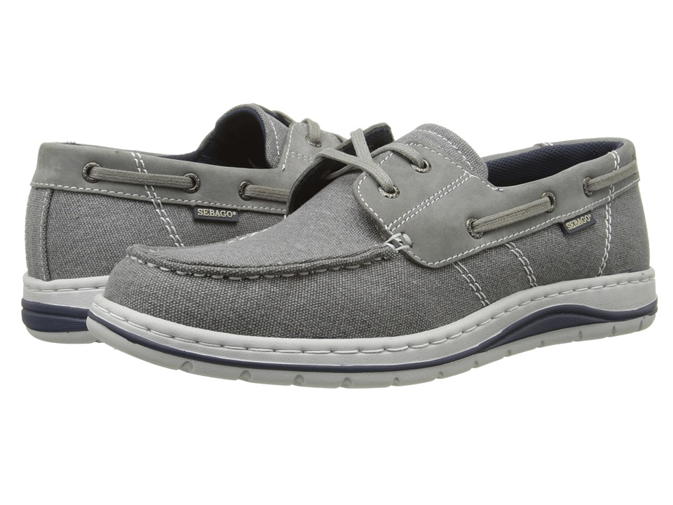 Sebago - Hartland Two Eye (Grey Canvas/Nubuck) Men's Shoes