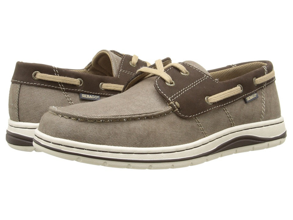 Sebago - Hartland Two Eye (Brown Canvas/Nubuck) Men's Shoes