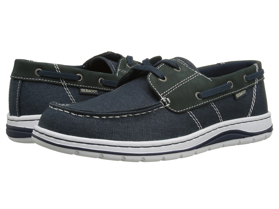 Sebago - Hartland Two Eye (Navy Canvas/Nubuck) Men's Shoes